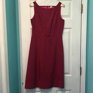 J. Crew Magenta Silk sheath Dress